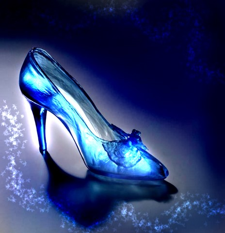 Cinderellas Glass Slipper the glass into slippers